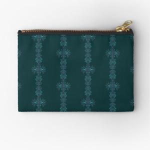 blaues onament purse