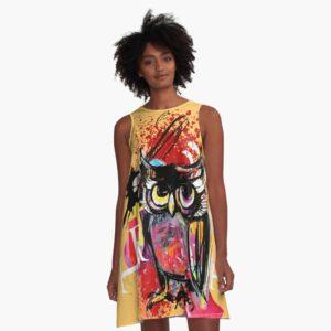 ink owl kleid