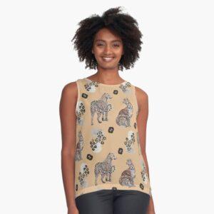 leopard pattern top