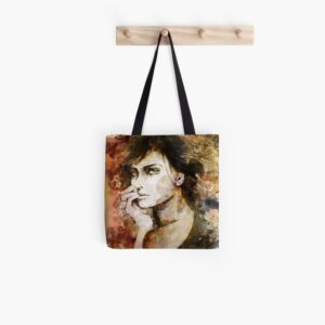 gold woman bag