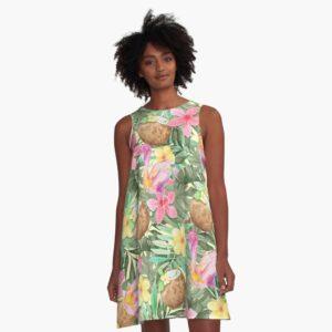 tropic coconut kleid